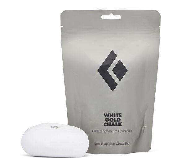 BLACK DIAMOND REFILLABLE WHITE GOLD CHALK SHOT pallina di MAGNESITE ricaricabile